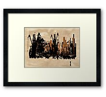 Down Town Framed Print