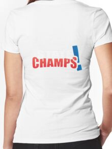 state champs Women's Fitted V-Neck T-Shirt
