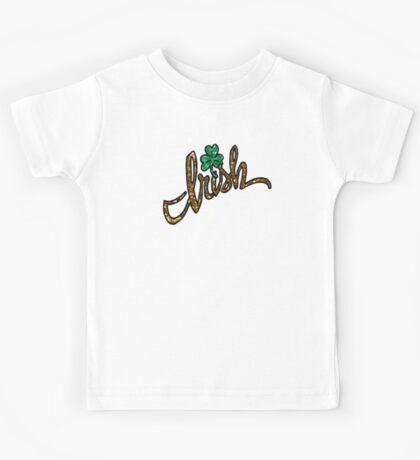 irish glitter clover shamrock Kids Tee