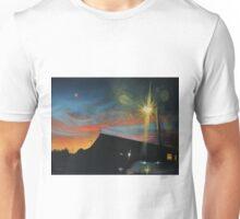 Suburban Sunset Oil on Canvas Unisex T-Shirt