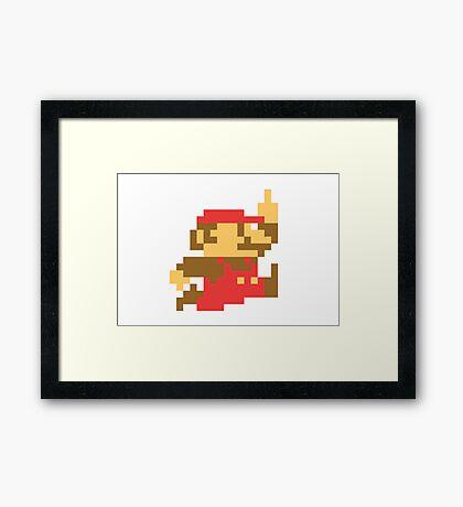 Rude Mario Framed Print