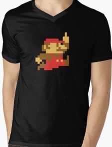 Rude Mario Mens V-Neck T-Shirt