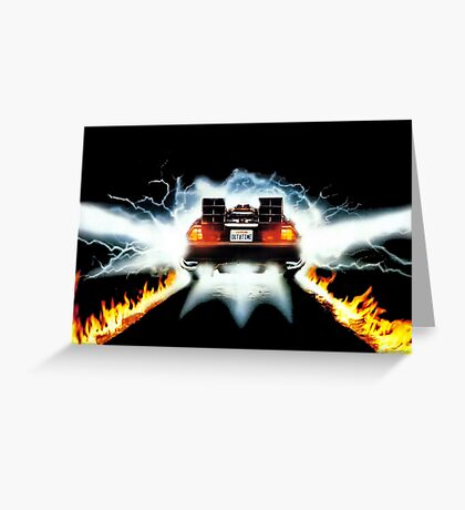 BTF - Delorean Greeting Card