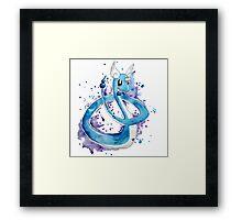 Pokemon Watercolor - Dragonair #148 Framed Print