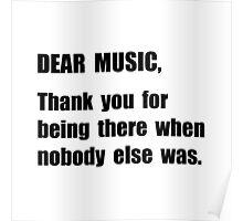 Dear Music Poster