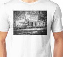 Rabbit Hash Store-Front View B&W Unisex T-Shirt