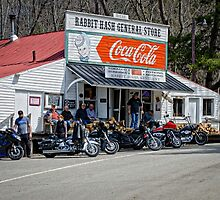 Rabbit Hash Store-Front View Bikers by Mary Carol Story