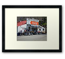 Rabbit Hash Store-Front View Bikers Framed Print