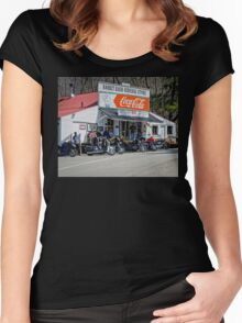Rabbit Hash Store-Front View Bikers Women's Fitted Scoop T-Shirt