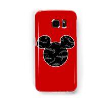 Mickey Filigree - White with black background Samsung Galaxy Case/Skin
