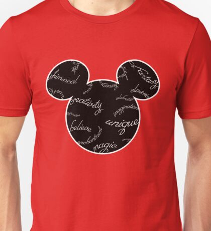 Mickey Filigree - White with black background Unisex T-Shirt