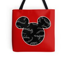 Mickey Filigree - White with black background Tote Bag