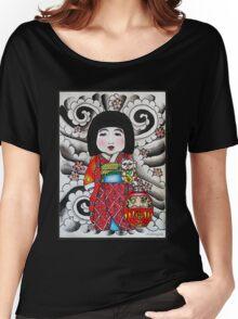 Ichimatsu ningyo, maneki neko and daruma doll  Women's Relaxed Fit T-Shirt