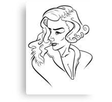 Hepburn Canvas Print