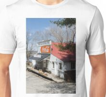 Rabbit Hash Store-Front View Angle Unisex T-Shirt
