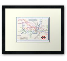 LONDON UNDERGROUND MAP 1933 HARRY BECK Framed Print