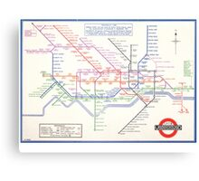 LONDON UNDERGROUND MAP 1933 HARRY BECK Canvas Print