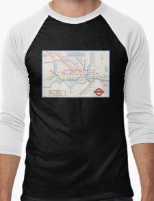 LONDON UNDERGROUND MAP 1933 HARRY BECK Men's Baseball ¾ T-Shirt