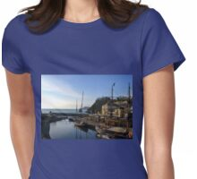 Charlestown  Harbour , Cornwall. UK Womens Fitted T-Shirt