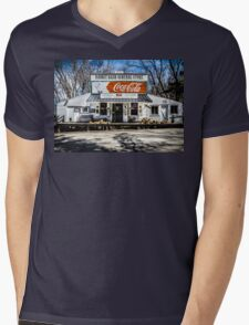 Rabbit Hash Store-Front View Mens V-Neck T-Shirt