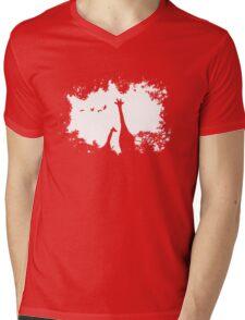 Giraffe Mother and Child Mens V-Neck T-Shirt