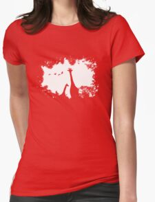 Giraffe Mother and Child Womens Fitted T-Shirt