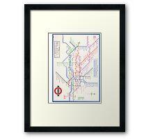 LONDON TUBE MAP 1933 HENRY BECK Framed Print