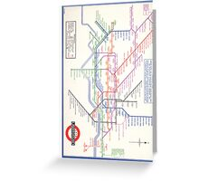 LONDON TUBE MAP 1933 HENRY BECK Greeting Card