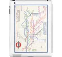 LONDON TUBE MAP 1933 HENRY BECK iPad Case/Skin