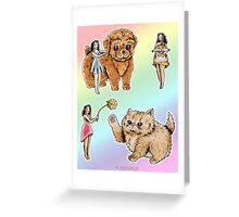 Tiny Pin ups ans Fluffy Pets Greeting Card