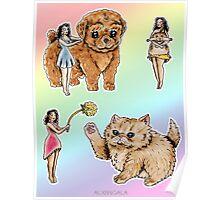 Tiny Pin ups ans Fluffy Pets Poster
