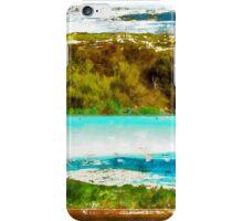 Sardinia: sea landscape and sign map iPhone Case/Skin