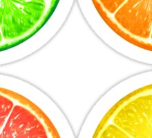 Citrus Fruits and Polka Dots Sticker