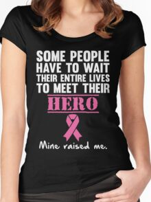 Breast Cancer Hero Women's Fitted Scoop T-Shirt