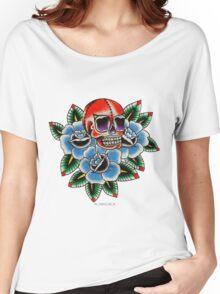 Wrestler's Skull  Women's Relaxed Fit T-Shirt