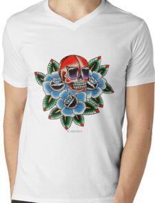 Wrestler's Skull  Mens V-Neck T-Shirt