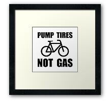 Pump Tires Framed Print