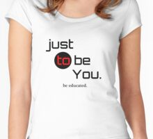 be Educated Women's Fitted Scoop T-Shirt