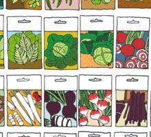 Vegetable seeds pattern Sticker