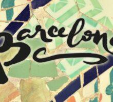 Barcelona Gaudi Work Modernism Park Güell  Sticker