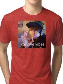 Leafy Positive vibes Tri-blend T-Shirt