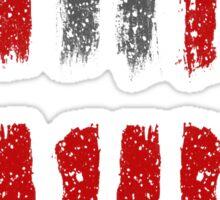 Hateful Eight stripe design Sticker