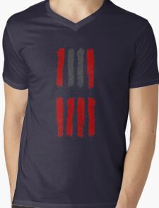Hateful Eight stripe design Mens V-Neck T-Shirt