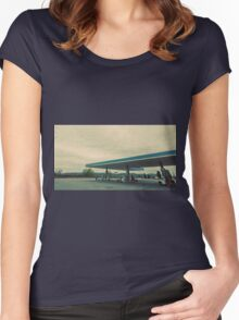 Tuscany - Italian Gas Station Women's Fitted Scoop T-Shirt