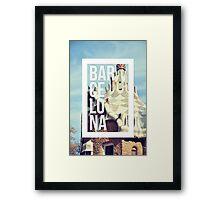 Barcelona Gaudi Work Modernism Park Güell Framed Print