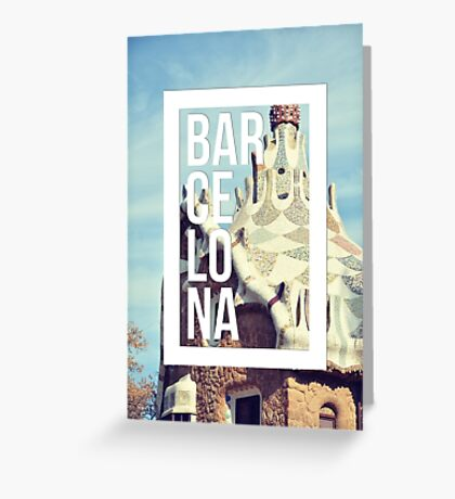 Barcelona Gaudi Work Modernism Park Güell Greeting Card
