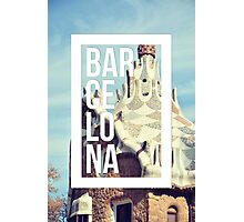 Barcelona Gaudi Work Modernism Park Güell Photographic Print