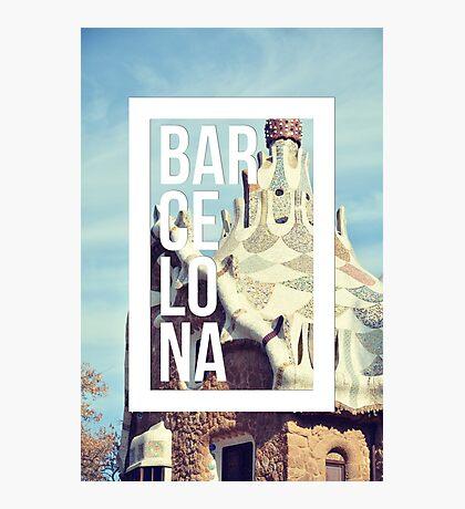 Barcelona Gaudi Work Modernism Park Güell Photographic Print