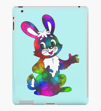 psychedelic easter bunny iPad Case/Skin