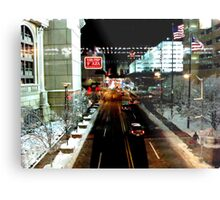 Nightscape of Atlantic City - USA ^ Metal Print